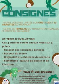 CONCOURS BANDE DESSINEE - Consignes