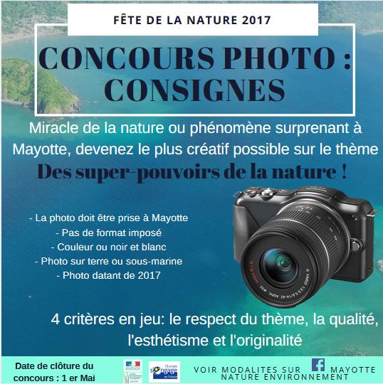 CONCOURS PHOTO - CONSIGNES